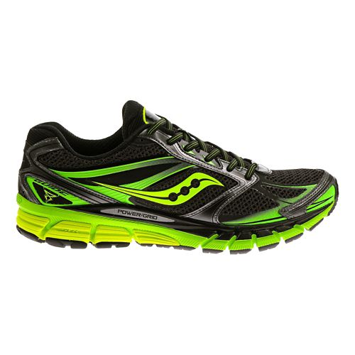 Mens Saucony Guide 8 Running Shoe - Black/Citron 11