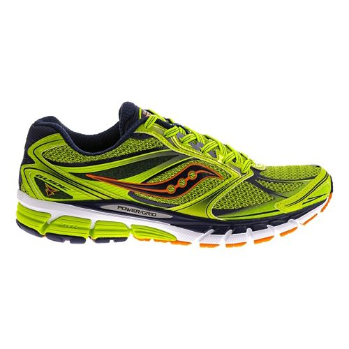 Mens Saucony Guide 8 Running Shoe - Lime/Navy 11