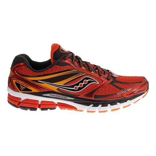 Mens Saucony Guide 8 Running Shoe - Red/Black 16