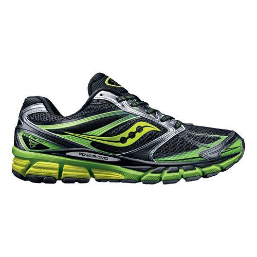 Mens Saucony Guide 8 Running Shoe - Black/Citron 10.5