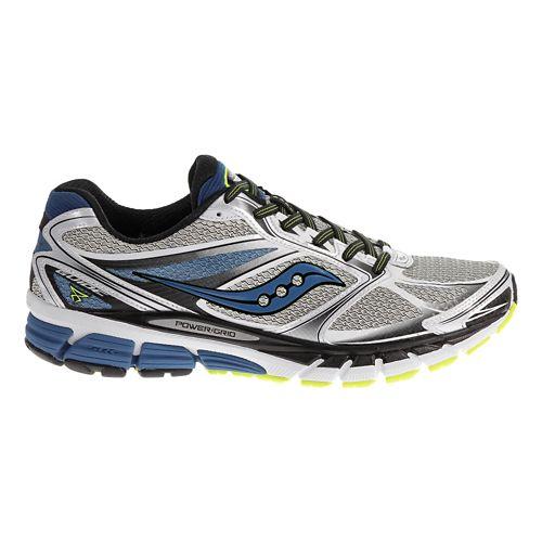 Mens Saucony Guide 8 Running Shoe - White/Blue 11.5