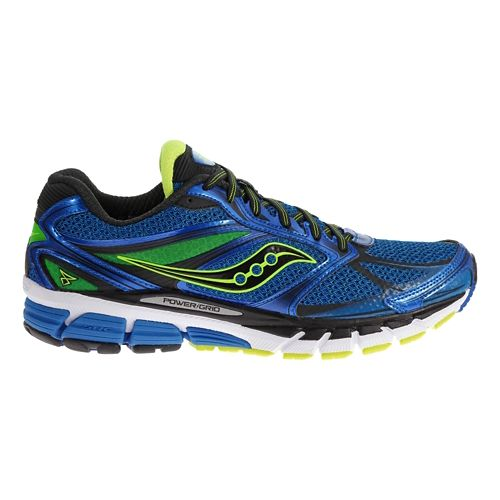 Mens Saucony Guide 8 Running Shoe - Black/Citron 12.5