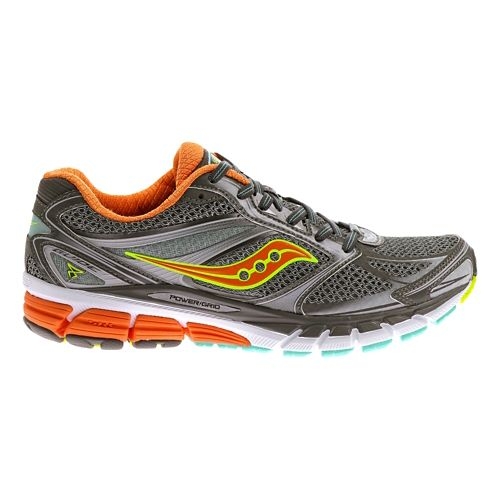 Womens Saucony Guide 8 Running Shoe - Grey/Sunset 7