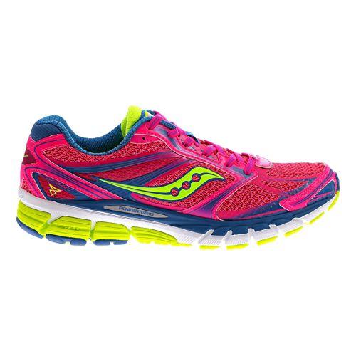 Womens Saucony Guide 8 Running Shoe - Vizipink/Citron 6.5