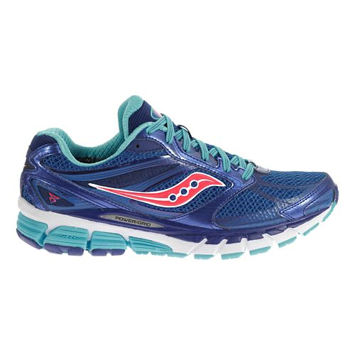 Womens Saucony Guide 8 Running Shoe - Blue/Navy 5.5