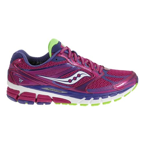 Womens Saucony Guide 8 Running Shoe - Vizipink/Citron 11