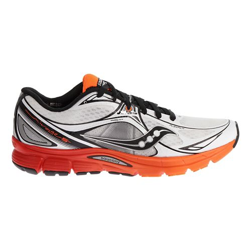Mens Saucony Mirage 5 Running Shoe - White/Orange 12.5