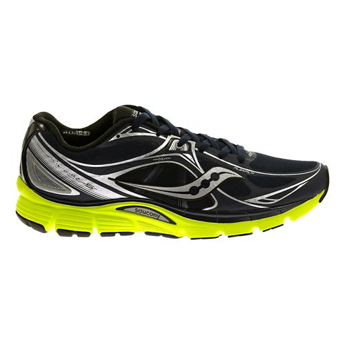 Mens Saucony Mirage 5 Running Shoe - Navy/Citron 11
