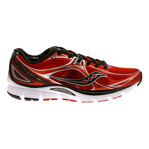 Mens Saucony Mirage 5 Running Shoe - Red/Black 12.5