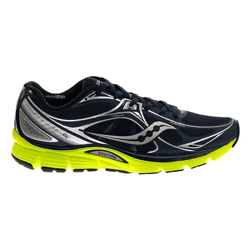 Mens Saucony Mirage 5 Running Shoe - Navy/Citron 10.5