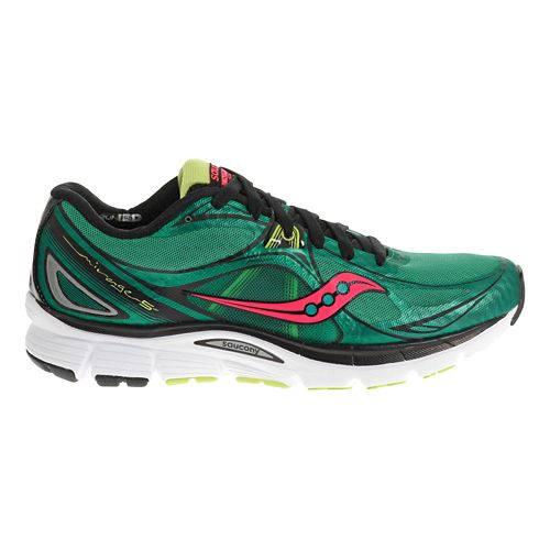 Womens Saucony Mirage 5 Running Shoe - Green/Coral 11