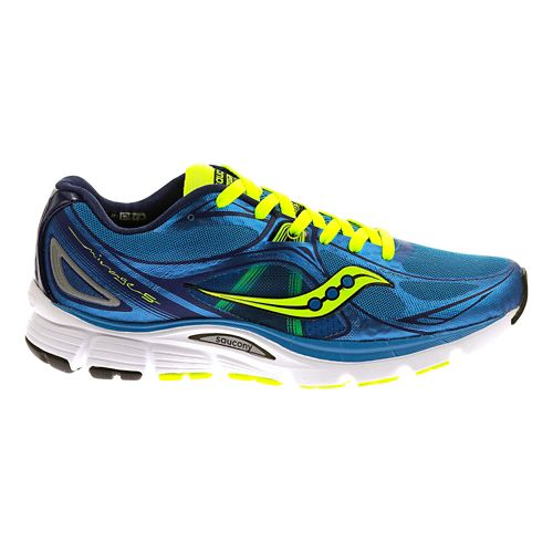 Womens Saucony Mirage 5 Running Shoe - Blue/Citron 7.5