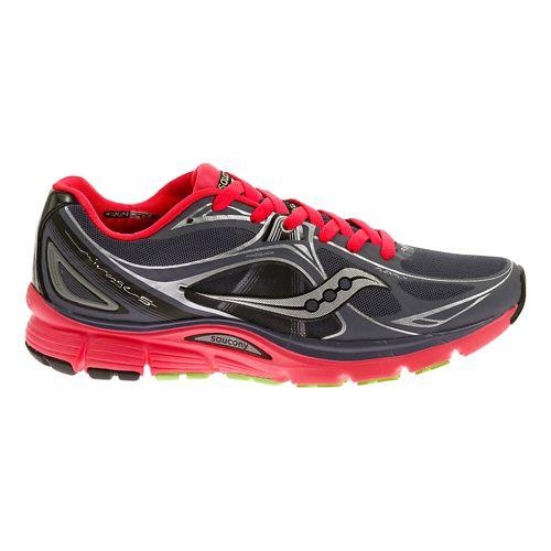 Womens Saucony Mirage 5 Running Shoe - Smokey Grey/Pink 7