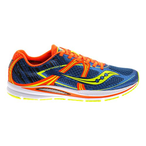 Mens Saucony Fastwitch Running Shoe - Blue/Orange 11.5
