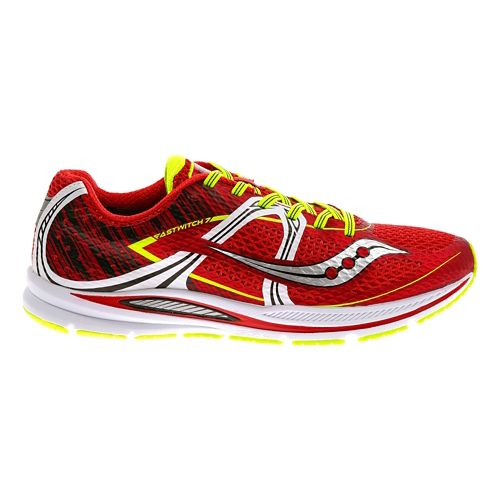 Mens Saucony Fastwitch Running Shoe - Red/White 11.5