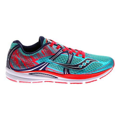 Womens Saucony Fastwitch Running Shoe - Blue/Pink 7.5