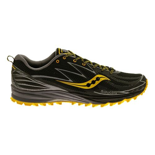 Mens Saucony Peregrine 5 Trail Running Shoe - Black 12.5