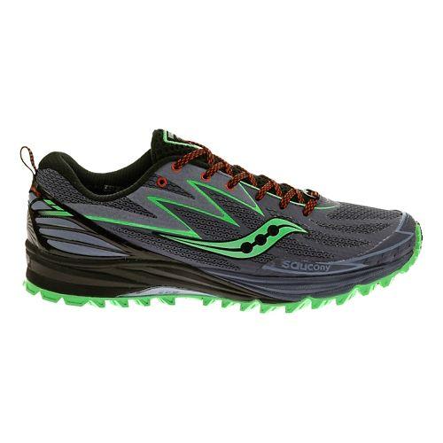 Womens Saucony Peregrine 5 Trail Running Shoe - Grey/Mint 5.5
