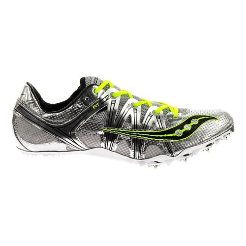 Mens Saucony Showdown Track and Field Shoe - Silver 11.5