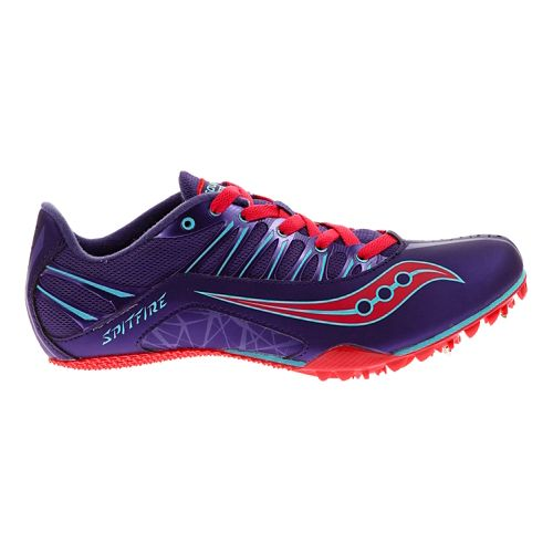 Womens Saucony Spitfire Track and Field Shoe - Purple/Pink 10.5