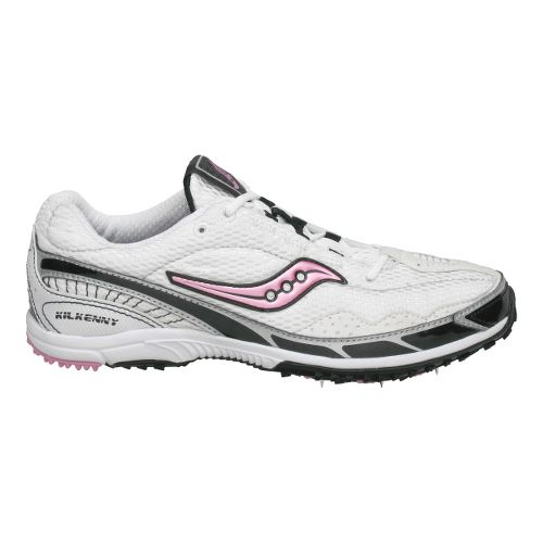 Womens Saucony Kilkenny XC 3 Spike Cross Country Shoe - White/Pink 6