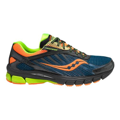 Mens Saucony Ride 6 GTX Running Shoe - Blue/Orange 11