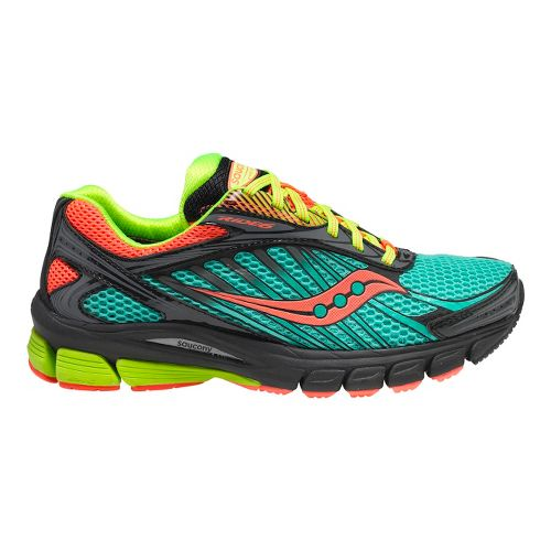 Womens Saucony Ride 6 GTX Running Shoe - Green/Pink 5