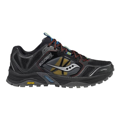 Mens Saucony Xodus 4.0 Trail Running Shoe - Black/Red 12.5