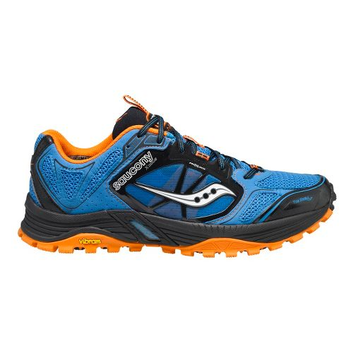 Mens Saucony Xodus 4.0 Trail Running Shoe - Blue/Black 10.5
