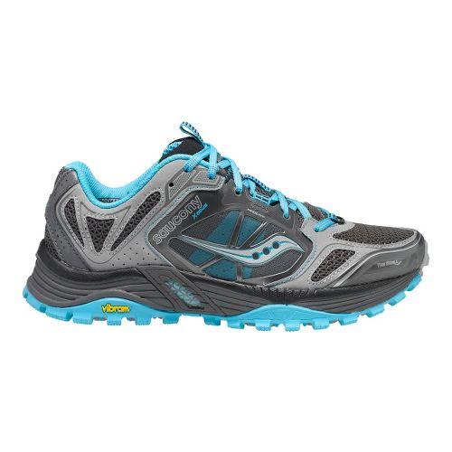 Womens Saucony Xodus 4.0 Trail Running Shoe - Grey/Blue 11.5