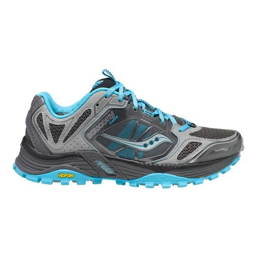 Womens Saucony Xodus 4.0 Trail Running Shoe - Grey/Blue 5.5