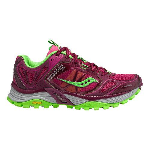 Womens Saucony Xodus 4.0 Trail Running Shoe - Purple/Berry 7