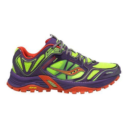 Womens Saucony Xodus 4.0 Trail Running Shoe - Purple/Citron 10.5