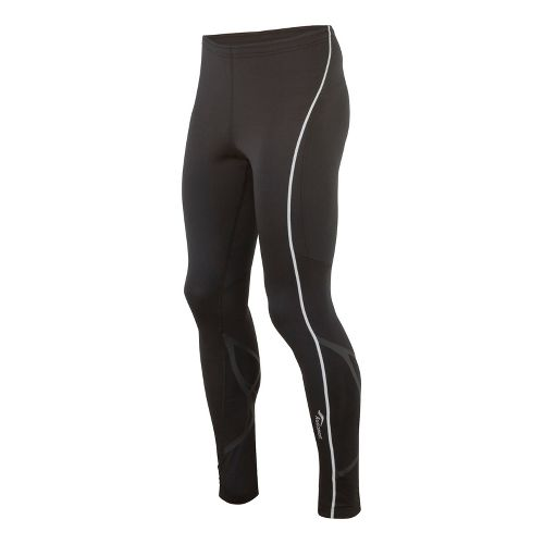 Mens Saucony Kinvara Calf Support Fitted Tights - Black/Black L