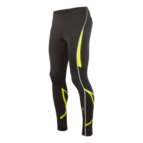 Mens Saucony Kinvara Calf Support Fitted Tights - Black/Sipher L