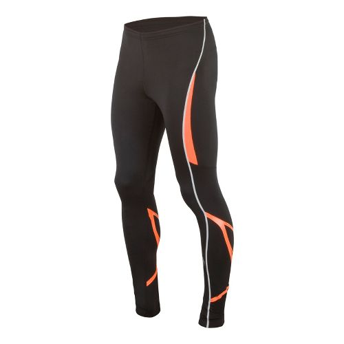 Mens Saucony Kinvara Calf Support Fitted Tights - Black/Vizipro XXL