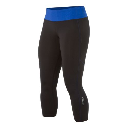 Womens Saucony Scoot LX Capri Tights - Black/Stellar XXL