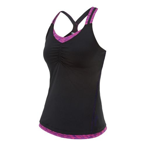 Womens Saucony Ruched LX Tank Singlets Technical Tops - Berry Crush/Sipher S