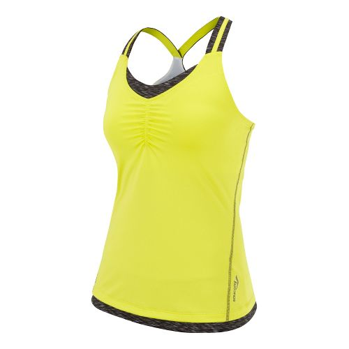 Womens Saucony Ruched LX Tank Singlets Technical Tops - Phantom/Sipher S