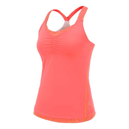 Womens Saucony Ruched LX Tank Singlets Technical Tops - Sipher/Vizipro Coral M