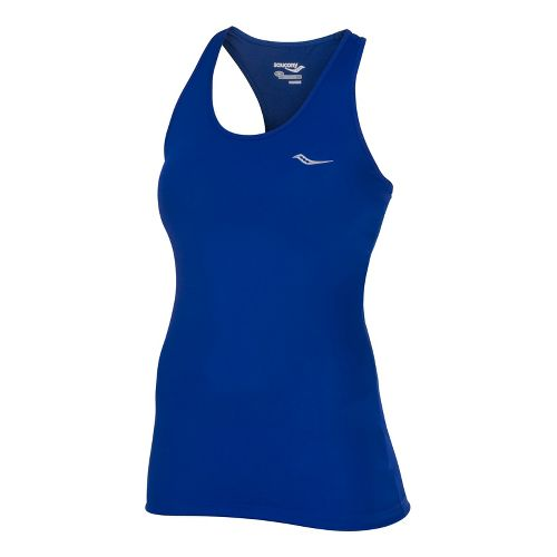 Womens Saucony Solid Racer Back Tank Singlets Technical Tops - Cobalt XL