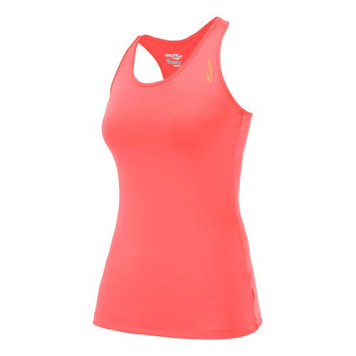 Womens Saucony Solid Racer Back Tank Singlets Technical Tops - Vizipro Coral M