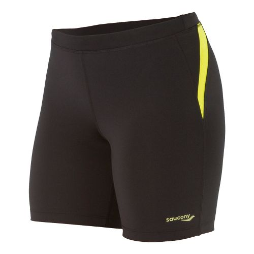 Womens Saucony Ignite Tight Fitted Shorts - Black/Sipher L