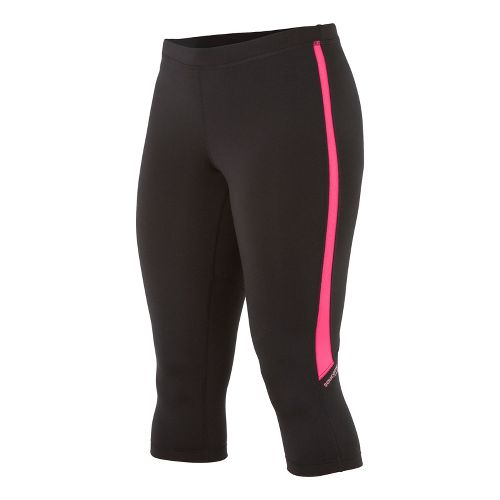 Womens Saucony Ignite Tight Capri Tights - Black/Berry Crush L