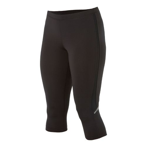 Womens Saucony Ignite Tight Capri Tights - Black/Black XL