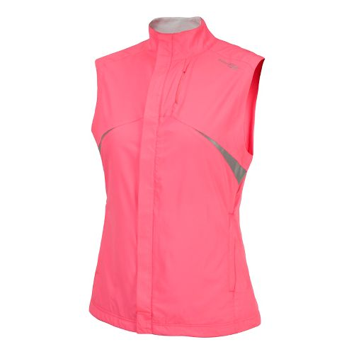 Womens Saucony Sonic Vizi Running Vests - Vizipro Pink S