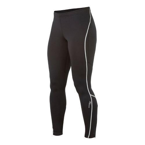 Womens Saucony Omni LX Fitted Tights - Black/Black XL