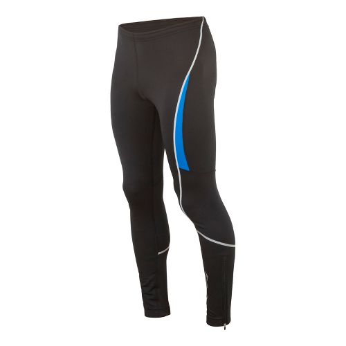 Mens Saucony Omni LX Fitted Tights - Black/Enduro Blue L