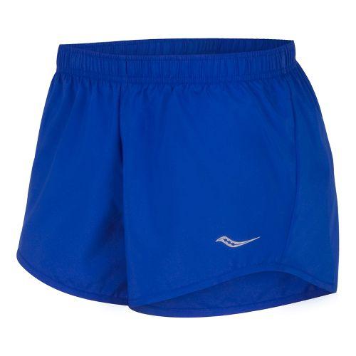 Womens Saucony PE Core Unlined Shorts - Cobalt S