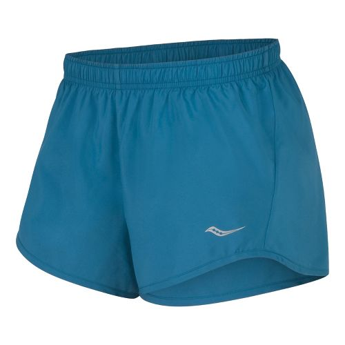 Womens Saucony PE Core Unlined Shorts - River XS